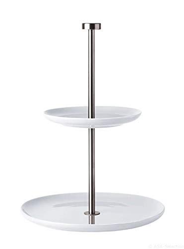 ASA Selection 92152146 ASA Grande Originale Présentoir à gâteau plat de 2 niveaux