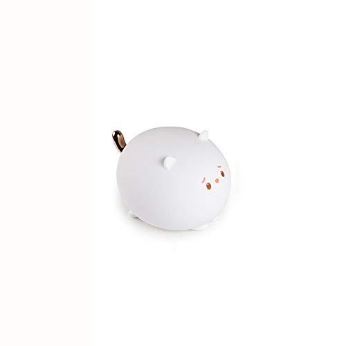 YFWDY nachttafellampje nachtlampje stopcontact baby kinderlamp nachtlampje USB opladen, led silicone mat licht, magnetische kleurverloop, creatieve cadeaus