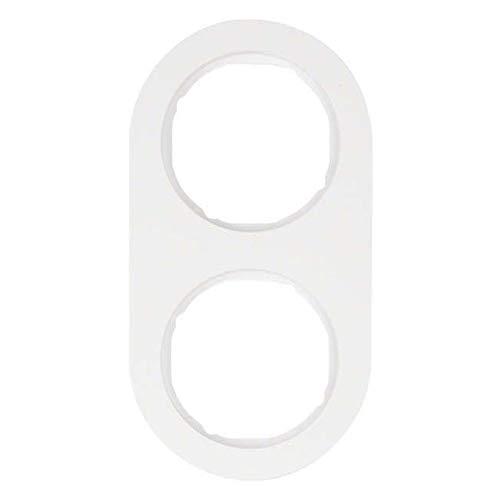 Preisvergleich Produktbild Hager R. Classic Rahmen RClassic 2 Elemente weiß Polar Glanz