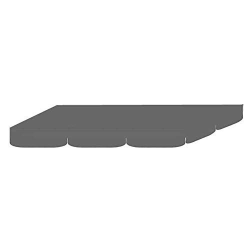 HIANG256 Garten-Hollywoodschaukel, Ersatz-Überdachung, wasserdicht, für Hollywoodschaukel, Sonnensegel, 190,5 x 132,1 x 15 cm, nicht null, grau, Free Size