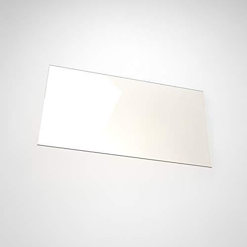 Kaminglas & Kaminscheibe passend für Wamsler Typ 10180 | Temperaturbeständig bis 800° C | Geprüfte Glas Maße! | feuerfestes Glas für Kamin & Ofen von Temprix - Ofenglas