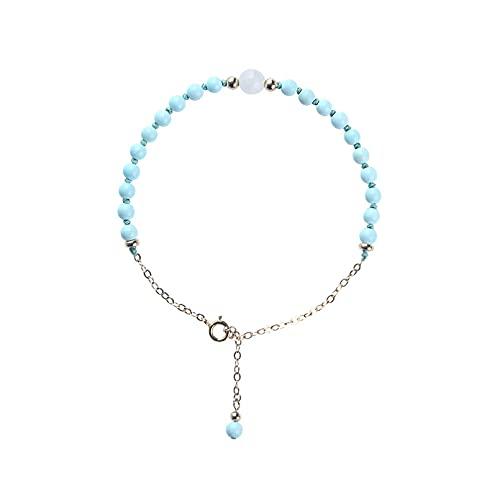 Joyas de pulsera Pulsera fina de niña literaria elegante y fresca azul turquesa para que la novia envíe un regalo de cumpleaños a la novia Aniversario Día de la madre Regalo de cumpleaños de Navidad