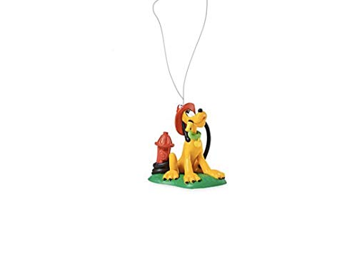 "Disney Mickey Mouse Minnie Friend Pluto Firefighter Dog 3"" Custom PVC Holiday Christmas Tree Ornament Figure Figurine"
