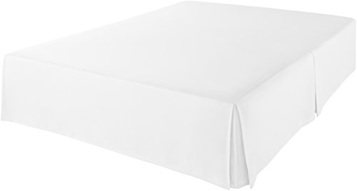 AmazonBasics Pleated Bed Skirt - Twin, Bright White