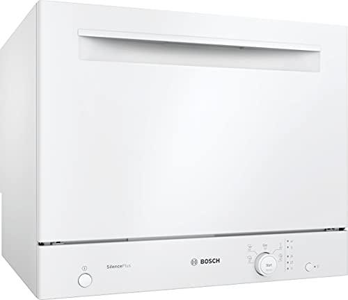 Bosch SKS51E32EU - Lavavajillas Compact Serie 2 – Soporte libre, 55 cm, 6 cubiertos – 5 programas – Motor EcoSilence Drive – Blanco