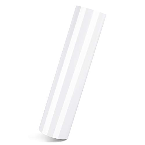 """Huaxing Glossy White Permanent Adhesive Vinyl Roll –12"""" x 60 FT Glossy White Vinyl Rolls are Best Vynil for Signs, Scrapbooking, and Adhesive Vinyl for Cricut, Silhouette and Cameo Cutters"""