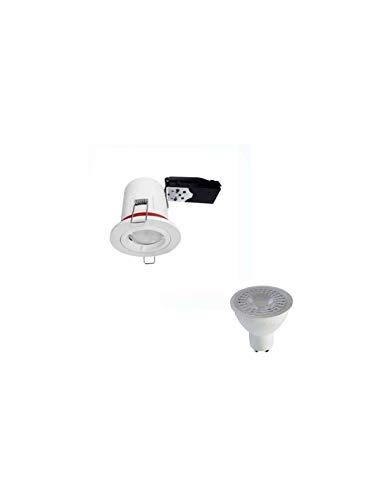 Kit foco LED rt2012/BBC IP20GU107W (EQ. 50W) color blanco