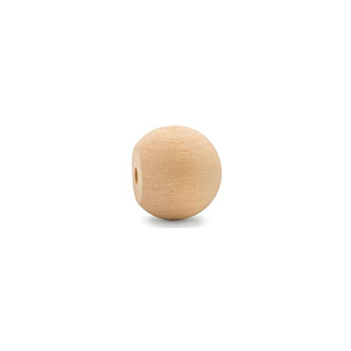 Unfinished Wood Ball Knobs 1 inch for Kitchen Cabinet Knobs, Drawer Knobs, Dresser Knobs and Crafts, Pack of 25, by Woodpeckers