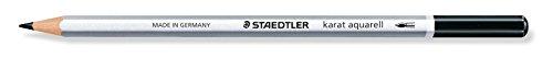Staedtler Karat Aquarell 125-9 Professional Watercolour Pencils - Black (Pack of 6)