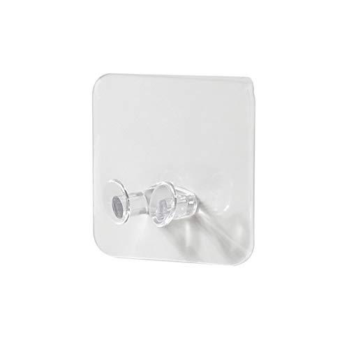 MEILUAIMU Gancho de Enchufe de alimentación Transparente portátil Gancho de Almacenamiento Adhesivo Gancho de Soporte de Enchufe de Alambre Gancho de Almacenamiento de Enchufe de Dos Fases