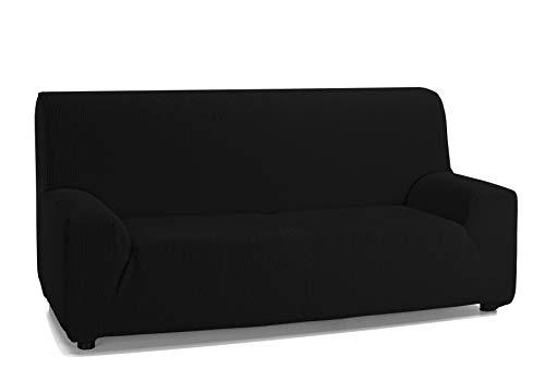 Martina Home Emilia, Funda Elástica para Sofá de 3 Plazas, Negro, de 180 a 240 cm de ancho, tela