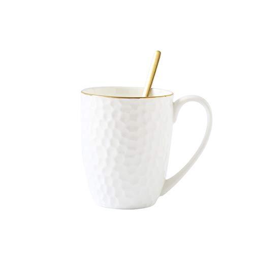 Einfache und hochwertige Bone China Kaffeetasse Zeichnung Goldbecher Keramik Nachmittagstee Tasse Geschenk Tasse