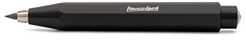 Kaweco Skyline Sport Black Fallbleistift 3.2 mm 5B I Minenbleistift aus hochwertigem Kunststoff in oktogonalem Acht Kant Design I Druckminenbleistift 10,5 cm I Druck-Bleistift nachfüllbar Schwarz