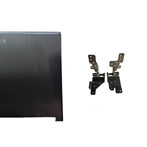 Laptop-Ersatzteile Kompatibel mit MSI GE62 2QD-007XCN MS-16J1 16J1 16J2 16J3 Obere LCD-Rückseite schwarz Non-Touch/LCD-Rahmenabdeckung/LCD-Scharniere LundR/Scharnierabdeckung (Color : A and Hinges)