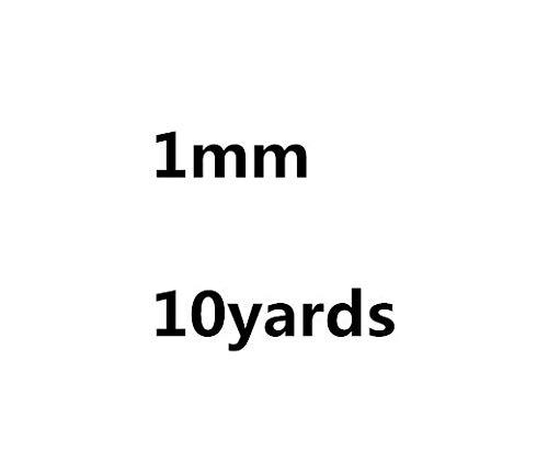 XiaoOu Cordón de Collar 0.5mm 0.8mm 1mm 1.5mm 2mm Cuerda de cordón de algodón Encerado Gris Cuerda de Hilo Encerado Correa de Cuerda de Collar para Hacer Joyas, 1 mm