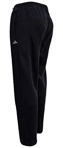 Sockenhimmel Jogginghose Thermohose Herren Sporthose Fitnesshose warme Trainingshose Uni M - 3XL Fleece gefüttert Gummibund (L, Schwarz)