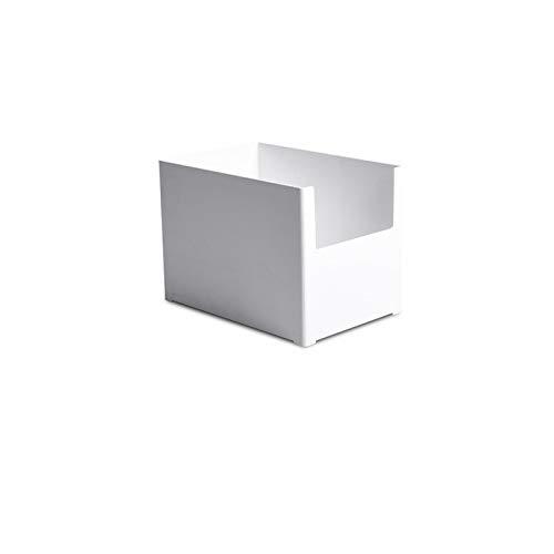 Lovemay Organizador de escritorio de plástico, soporte rectangular, fácil cajón, caja de cosméticos para organizar escritorio/oficina/artículos del hogar, 21 × 14 × 15 cm, color blanco