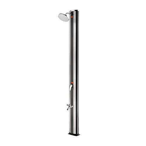 well2wellness® Aluminium Solardusche Gartendusche \'High Class\' mit Fußdusche 40 Liter (P2606)