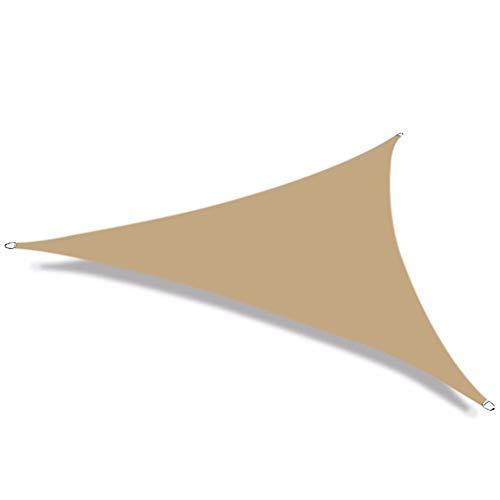 Nevy – Driehoek zonwering sail shelter waterbestendig tuin patio Canopy 98% UV-blokkering schaduw doek 3x4x5m Zand