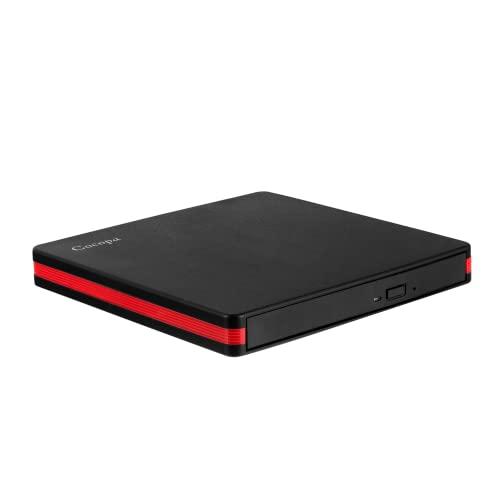 Lecteur DVD Externe, Cocopa USB 3.0 Graveur CD DVD Externe Enregistreur Portable DVD CD Rom +/-RW Mince Player Transmission Rapide Câble USB Intégrée Win7 10 Mac Os Apple iMac Macbook Laptop PC