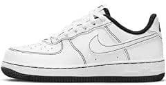 Nike Little Kids AIR Force 1 Stitch (PS) White Black DC9672B 104