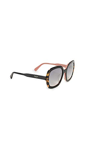 Prada Women's Round Sunglasses, Black Pink/Grey, One Size