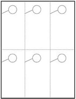Hang 6! Door Hangers 6 Per Page - Perfed Circle - Standard White (250 sheets/1,500 door hangers)