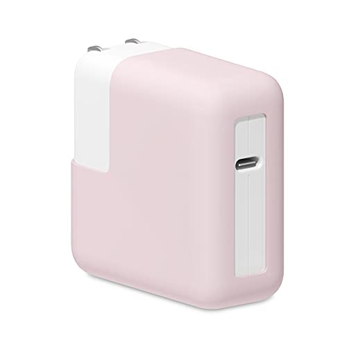 """GERTSMAC Laptop Silicone Charger Protective Case for MacBook Pro 13"""", MacBook Air 13"""" Charger Adapter Protector Soft Rubber Cover (MacBook Pro 13', Pink)"""
