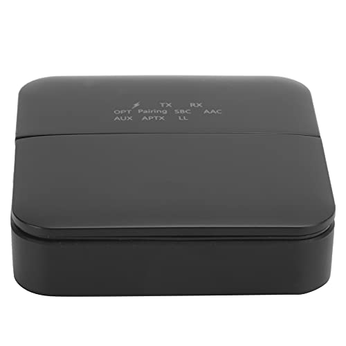 Mxzzand Bluetooth V5.0 Adaptador Bluetooth de Baja latencia ABS Transmisor de Audio Bluetooth 5.0 Duradero para Dispositivos de Audio Bluetooth