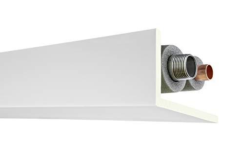 2 Meter Rohr- und Kabelabdeckleiste 90x160mm - PU glatt, weiß, stoßfest - AB298 Hexim Perfect - Eckleiste Stuckleiste Dekorleiste Stuckprofil Zierprofile