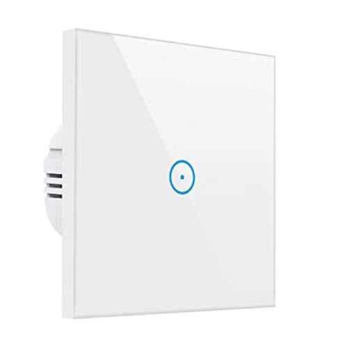 Meamor - Interruptor de luz inteligente Alexa con WiFi, control táctil, no requiere hub,...