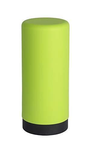 Wenko Spülmittelspender Easy Squeez-e, Spender für Spülmittel in der Küche, Seifenspender aus Silikon, Fassungsvermögen 250 ml, Ø 6 x 14 cm, grün