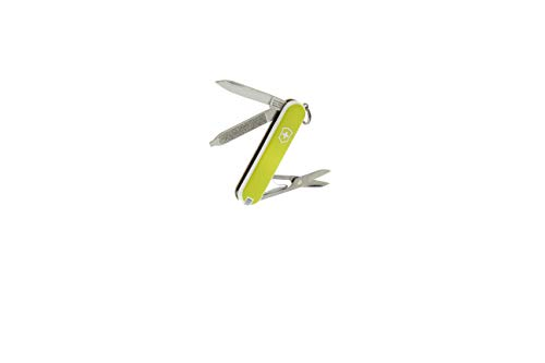 Victorinox Classic Verde Lime - Coltellino Svizzero da Tasca - 58 Mm - 7 Funzioni