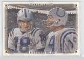 Johnny Unitas; Peyton Manning (Football Card) 2008 Upper Deck Masterpieces - [Base] #92