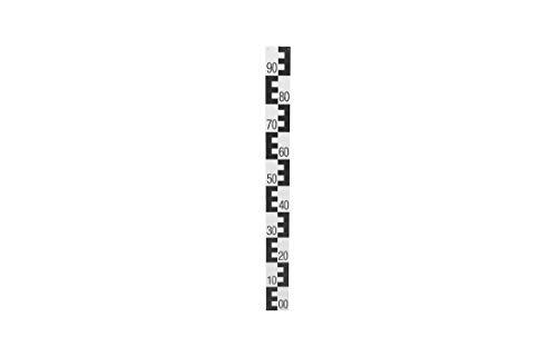 Pegellatte, Kunststoff, schwarz, Bezifferung unten 00 - oben 90