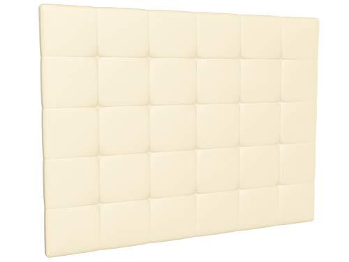 LA WEB DEL COLCHON - Cabecero tapizado Corfú para Cama de 150 (160 x 120 cms) Beige | Cama Juvenil | Cama Matrimonio | Cabezal Cama |
