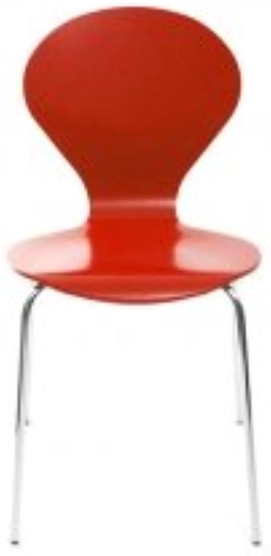 Konferenzstuhl Stuhl Rondo von Danerka in Rot
