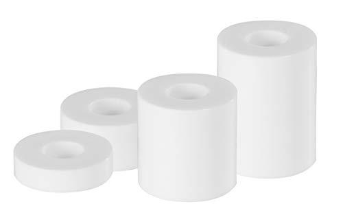 GAH-Alberts 338718 Distanzhülse | Kunststoff | Kunststoff, weiß | 20 Stück mit 4 Größen | 20 x 5 mm / 20 x 10 mm / 20 x 20 mm / 20 x 30 mm