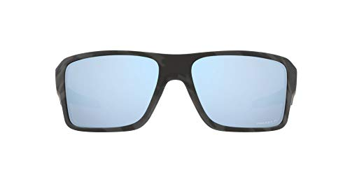 OO9380 Double Edge Sunglasses, Matte Black Camo/Prizm Deep Water Polarized, 66mm