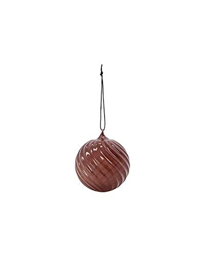 House Doctor 202100893 Ornament, Glassy, marrón, diámetro: 8 cm