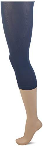 FALKE Damen Leggings Pure Matt Capri, Polyamid, 1 Paar, Blau (Atlantic 6535), S-M (DE 38-40)