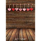sjoloon 5x 7ftビニール写真背景写真背景幕ダークウッド床Valentine 's Backdrop Studio Props 10547