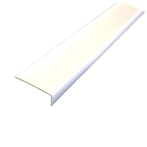 PVC Winkel ungleichschenklig Weiß 1 Meter Winkelprofile Kunststoffleiste Eckschutzleiste