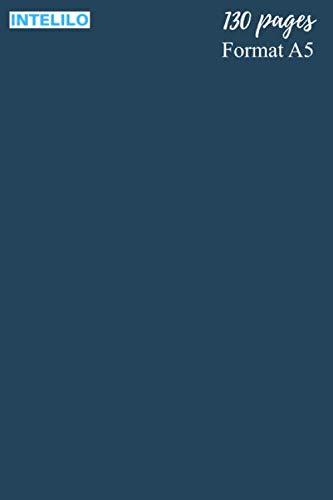 """Cahier en Bleu de Prusse, de Berlin ou bleu hussard: 130 pages, Format A5 de 15,24 x 22,86 cm (6"""" po x 9"""" po), réglure Seyès et grands carreaux en ... étudiant, élève, école et université"""