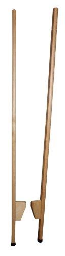 Holz Wenzel 651 - Holzstelzen mit extra langlebigen Plastikstopfen, verstellbar, 1.50 m