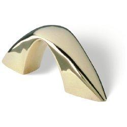 SIRO Möbelgriff Mülsen, Modern, Design, Kunststoff gold glänzend, 64 mm x 26 mm x 6 mm, LA 32 mm, M618-64VGG3