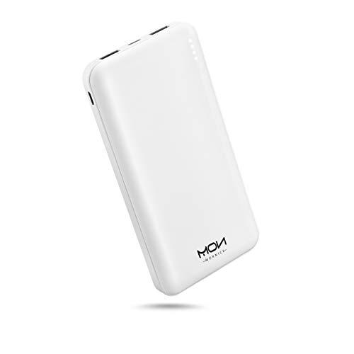 MOXNICE Powerbank 10000mAh Power Bank, Slim USB C Batteria Portatile Batteria Esterna per Smartphone e Tablet (Bianca)
