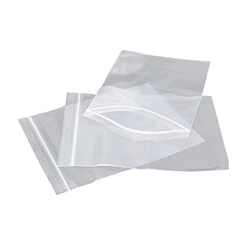 Yililay 100pcs PE con Cierre de Cremallera Bolsa de plástico Transparente con...