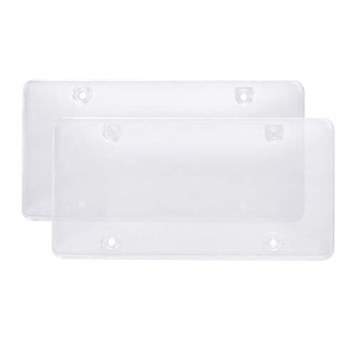 Accesorios de coche Carnet de conducir capítulo de la placa de la cubierta plásticos del número chapa de fijación de Pantalla Protectora de accesorios del automóvil (Color : 2)