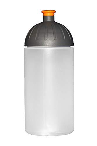 FreeWater Trinkflasche ohne Aufdruck, 500 ml, transparent/anthrazit/orange